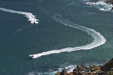 Ski Boats In Hout Bay Royalty Free Stock Image