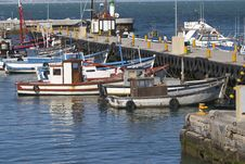 Fishing Boats In Kalk Bay Harbour Royalty Free Stock Images