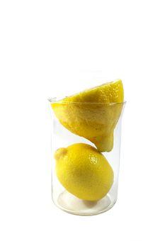 Free Two Parts Of Yellow Ripe Lemon Stock Photography - 4269922