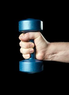 Free Dumbbell In A Hand Royalty Free Stock Photography - 4270027