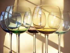 Free Wine Glasses Royalty Free Stock Image - 4271146