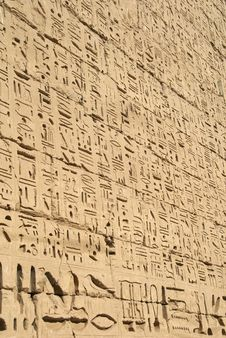 Free Ancient Egyptian Hieroglyphic Bas-relief Stock Photos - 4271363