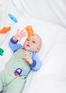 Free Baby Playing With Toys Royalty Free Stock Image - 4271496