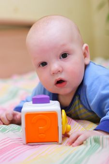 Free Baby Playing With Toy Stock Photos - 4271733
