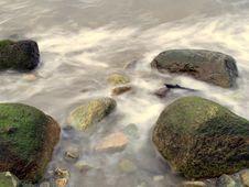 Water Flowing Rocks Stock Image