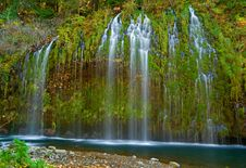 Free Waterfall In The Mountains Stock Image - 4272801