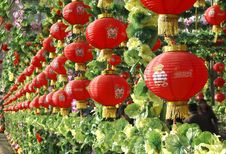 Free Red Lantern In New Year. Royalty Free Stock Photography - 4272827
