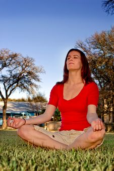 Free Meditating In The Park Stock Photos - 4272993