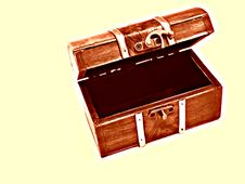 Opened Treasure Chest Stock Images