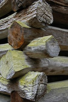 Log Cabin Construction Details Stock Images