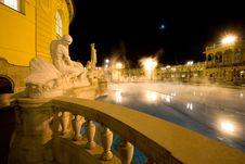 Public Baths, Night Royalty Free Stock Photography