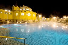 Public Baths, Night Royalty Free Stock Image