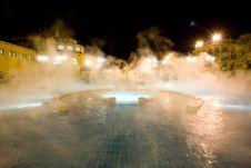 Public Baths, Night Stock Photo
