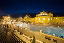 Public Baths, Night Royalty Free Stock Images