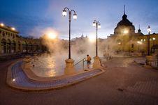 Public Baths, Night Royalty Free Stock Photos