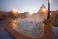 Public Baths, Night Stock Photos