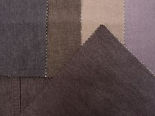 Free Textile Brown Texture Samples Royalty Free Stock Images - 4274689