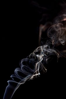 Free Smoke On Black Royalty Free Stock Photography - 4274987