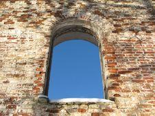 Arc Window Background Frame 01 Stock Photography