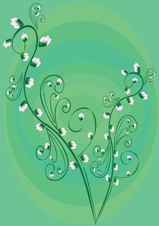 Free Flower On Green Background Royalty Free Stock Images - 4275409
