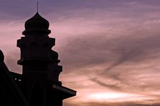 Free Indonesia, Java: Mosque At Sunset Royalty Free Stock Photography - 4276847
