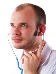 Free Doctor And Stethoscope Royalty Free Stock Image - 4277026