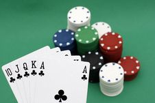 Free Poker Chips And Cards Royalty Free Stock Photos - 4277658