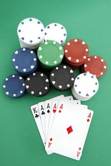 Free Poker Playing Cards Royalty Free Stock Photography - 4277747