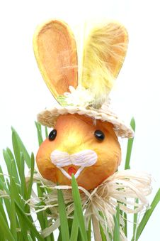 Free Easter Rabbit In A Grass Royalty Free Stock Image - 4278026