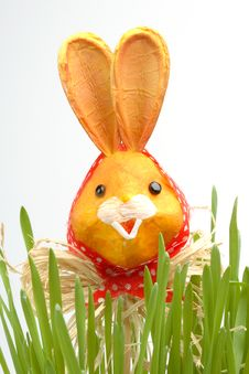 Free Easter Rabbit In A Grass Royalty Free Stock Image - 4278066