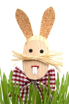 Free Easter Rabbit In A Grass Stock Photography - 4278142