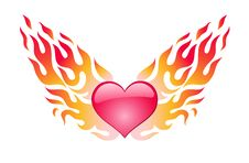 Free Heart In A Blaze Stock Photography - 4278382