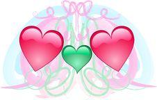 Free Three Hearts Stock Photo - 4278470