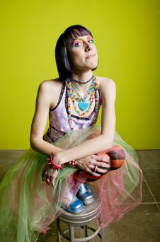 Free Colorful Punk Woman Royalty Free Stock Photo - 4278945