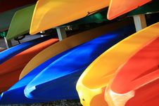Free Bright Kayaks Royalty Free Stock Images - 4279129