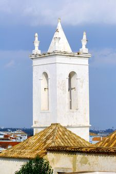 Portugal, Area Of Algarve, Tavira: Bell Tower Royalty Free Stock Images