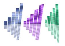 Free A4 Distorted Graphs Collection Blue Purple Green Stock Photo - 4279240