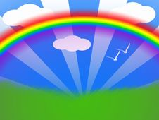 Free Summer Rainbow Stock Photography - 4279512