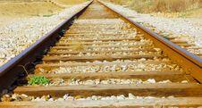 Free Portugal, Algarve, Lagos: Train Rails Stock Photography - 4279762