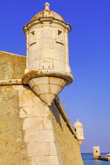 Portugal, Algarve, Lagos: Fortress Royalty Free Stock Image