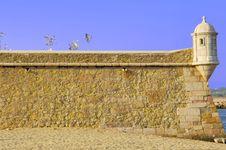 Portugal, Algarve, Lagos: Fortress Stock Image