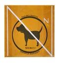Free No Dog Warning 2 Royalty Free Stock Photography - 4281387