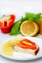 Free Salmon Canape. Royalty Free Stock Images - 4289179