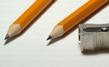 Free Two Pencils With Sharpener Royalty Free Stock Photo - 4280505