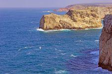 Portugal, Algarve, Sagres: Wonderful Coastline Stock Image