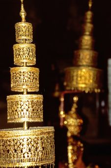 Free Golden Ornament In Thai Temple Royalty Free Stock Photo - 4280975