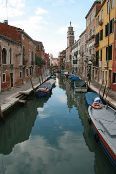 A Canal Of Venice Stock Images