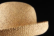 Free Straw Hat On Black Royalty Free Stock Images - 4281739