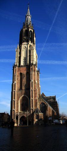 Church In Delft Stock Photo