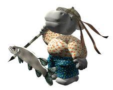 Hippo Adventurer - White Stock Photography